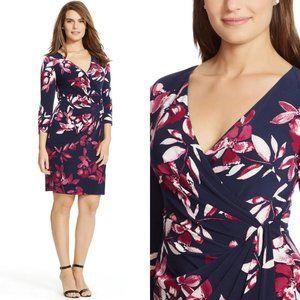 Mint! RALPH LAUREN Floral Stretch Wrap Dress 6P